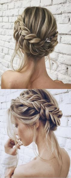 13 Easy Updos for Short Hair. formal updo hairstyles fancy hairstyles for short hair easy updo hairstyles hair updos for long hair simple updo hairstyles elegant wedding hairstyles. All of the elegance, none of the fuss. Easy Updo Hairstyles, Wedding Hairstyles For Long Hair, Wedding Hair And Makeup, Trendy Hairstyles, Hairstyle Ideas, Hair Ideas, Bridesmaid Hairstyles, Hairstyles Pictures, Hair Makeup