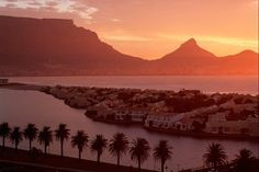 View from Milnerton at table mountain and Lion's Head, Cape Town, South Africa by Clemens Emmler, laif Lions Head Cape Town, Cape Town South Africa, Table Mountain, Out Of Africa, World Heritage Sites, Wonders Of The World, Travel Photography, Beautiful Places, National Parks