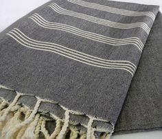 Turkish Bath | Towel in Peshtemal Black
