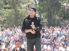 Adam Lambert's Homecoming at San Diego's Mt. Carmel High School performing 'Black Or White' & 'Mad World'