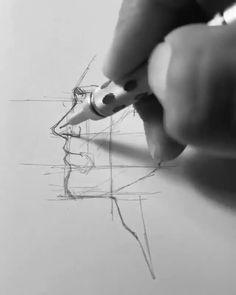 #sketch #drawing #drawings #facesketchsimple #sketchart #sketchmanface #mansketchface #drawingtutorial #sketchtutorial Pencil Art Drawings, Art Drawings Sketches, Cool Art Drawings, Drawing Tips, Painting & Drawing, Sketch Drawing, Sketching Techniques, Sketches Tutorial, Face Sketch