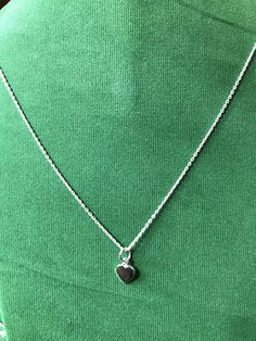 2bccc78112305 Delicate Small Tiny Sterling Silver love Pendant Chain Necklace best gift  for her   Mother.
