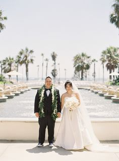 Elegant Outdoor Wedding at Hyatt Huntington Beach   Southern California wedding venues (Caroline Tran Photography)
