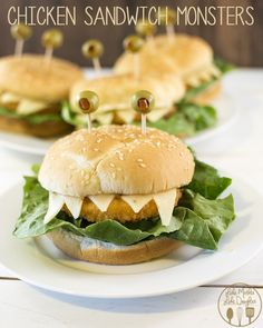 chicken sandwich monsters - these are perfect for a halloween party, so simple to make and so tasty too!