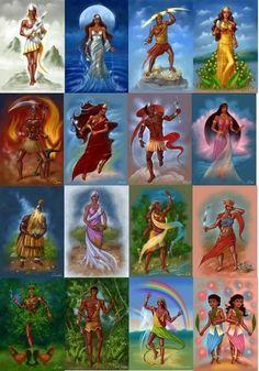 Orisha of Santeria African Mythology, World Mythology, African Goddess, Ifa Religion, Yoruba Religion, Black Girl Art, Black Art, Shango Orisha, Oya Orisha
