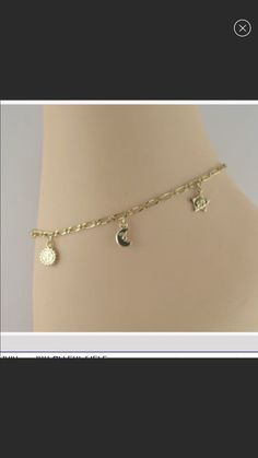 """a16e2d852 14K Gold Plated Anklet with Charms 10"""" for Sale in Queens, NY - OfferUp"""