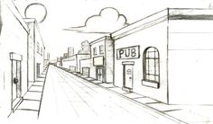 Easy One Point Perspective Drawings | One-point perspective by Goose-Deluxe