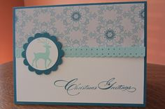 Christmas card using Stampin' Up Warmth & Wonder and Winter Frost DSP