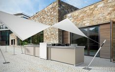 TERRASSE INNENHOF - Examples for F&B Concepts - livecookintable® - modular Live Cooking Station