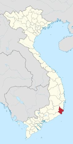 Location of Ninh Thuận within Vietnam