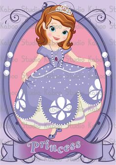 Instant Download - Clipart - Princess Sofia The First Clipart Picture Scene Setter Backdrop Wall Decoration