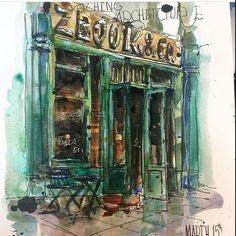Sketching -watercolor (@reham_m_a) в Instagram: #aquarell #art #painting #watercolor #sketch #paint #painting #sketch #drawing #sketching #sketchbook #travelbook #archisketcher #sketchaday #sketchwalker #sketchcollector #artbook #artjournal #traveldiary #
