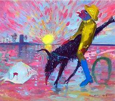 Arthur Boyd, Australian Scapegoat 1987 Arthur Boyd, Australian Painters, Literature, Moose Art, Scapegoat, Artist, Animals, Paintings, Friends
