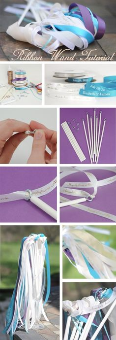 How to Make Personalized Ribbon Wands - A great DIY tutorial for creating ribbon. How to Make Personalized Ribbon Wands - A great DIY tutorial for creating ribbon. Wedding Reception Themes, Best Wedding Favors, Wedding Planning, Reception Ideas, Wedding Ideas, Wedding Vows, Diy Wedding Wands, Wedding Events, Weddings