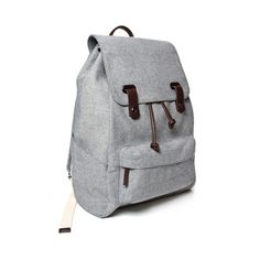 The Reverse-Denim Snap Backpack Main Image