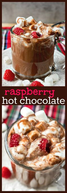 Hot Chocolate – Creamy homemade hot chocolate made with a fruity addition – fresh raspberries!Raspberry Hot Chocolate – Creamy homemade hot chocolate made with a fruity addition – fresh raspberries! Drinks Alcohol Recipes, Non Alcoholic Drinks, Yummy Drinks, Drink Recipes, Beverages, Fun Drinks, Cocktail Recipes, Thm Recipes, Potato Recipes