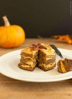Pumpkin Cheesecake Pancakes, made with almond flour.