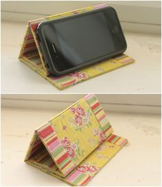 6. No-Sew - 7 DIY Phone Stands And Docks That Are Amazingly Clever ... | All Women Stalk