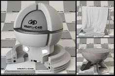 Free Vray For C4D Material Test Scene