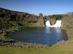 I was there June 2012! Hjalparfoss, Iceland.