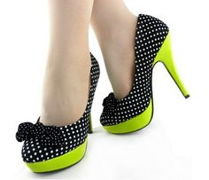 Featuring 3 keys looks for the season, #platform, amazing spot polka dots and the important bow at front. #shoes #stilettos #fashion #getbodylicious