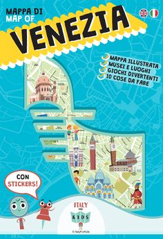 Map of Venice for young and adult explorer with stickers.