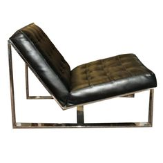 1stdibs | Milo Baughman Chrome Lounge Slipper Chair