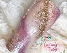 Pink and Gold Glitter Tumbler Glitter Dipped Tumbler Glitter Cups, Pink Glitter, Glitter Tumblers, Swirl Design, Wine Tumblers, Tumbler Cups, Pink And Gold, Rose Gold, Dips