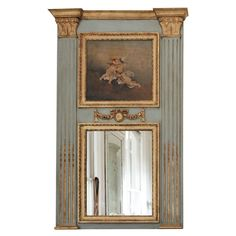 French Trumeau | From a unique collection of antique and modern trumeau mirrors…