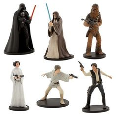 Disney Parks Exclusive Star Wars Epidode IV A New Hope Playset Collectible Figurines Figures Set Star Wars Cupcake Toppers, Star Wars Cupcakes, Star Wars Cake, Darth Vader Figure, Star Wars Birthday Cake, Kenny Baker, Han And Leia, Famous Stars, Han Solo