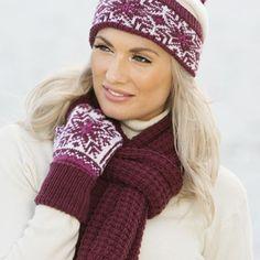 lue, hansker og skjerf - Viking of Norway Mittens, Vikings, Crochet, Knitting Ideas, Fashion, Berets, Gloves, Ponchos, Tricot