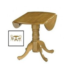 Drop-Leaf-Table-Dining-Wooden-Furniture-Small-Round-Kitchen-Pedestal-Extending