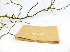 Deko und Accessoires für Weihnachten: 25 zarte Papiertüten Natron Flachbeutel made by Ixi-und-Frida via DaWanda.com