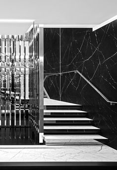 Saint Laurent new flagship store av. Montaigne in Paris by Hedi Slimane _not sure if it is more or less?