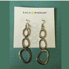 Chain link dangle earrings Beautiful silver link dangle earrings. Brilliant color and amazing quality Lula Avenue Jewelry Earrings