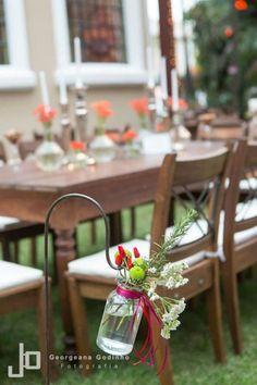 Wedding decor / orange flower / wood forniture / garden / beautiful and little details