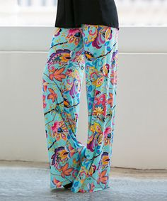 Another great find on #zulily! Aqua Paisley Palazzo Pants #zulilyfinds