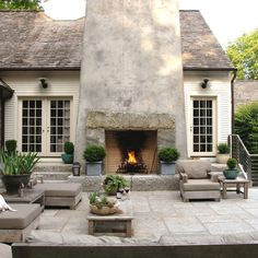 Deck Fireplace Home Design Ideas, Pictures, Remodel and Decor