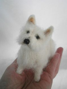 Love this felted Westie...cannot find out who made it...just darling