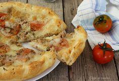 Torta salata con tonno e mozzarella