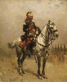 Alphonse-Marie-Adolphe de Neuville (French, 1835–1885). A Cavalryman, 1884. The Metropolitan Museum of Art, New York.