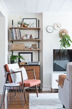 8 Spaces that Make Track Shelving Look Good | Apartment Therapy