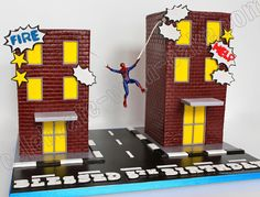 Celebrate with Cake!: Spiderman Buildings Cake
