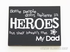 Father's day dad gift hero wooden sign by orangeblossomshopaz