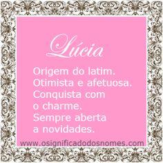 Significado do nome Lucia | Significado dos Nomes