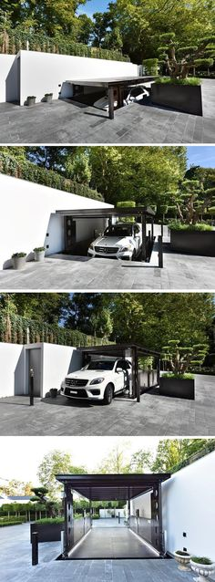 This Disappearing Garage Lowers Into The Ground And Becomes Invisible Underground GarageGarage Car LiftGarage ParkingHome