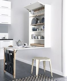 "l-e-a-b-o: "" Small but mighty. This morning's post was all about being #creative when planning your home interior. I'll continue with a #smart solution for #smallkitchens. Max out space in your #kitchen with this space saving idea. I love how this..."