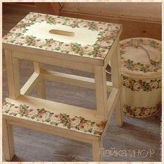 """Мебель ручной работы. Ярмарка Мастеров - ручная работа Табурет-стремянка """"розы"""". Handmade."""