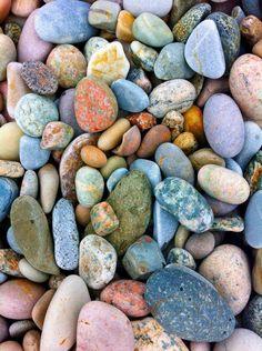Newfoundland, Canada. Photo by Rae Weisnagel. Pebble beach! #nature #rocks #pebbles #colourful #beautiful #pretty #summer