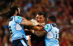 Canberra Raiders rep Josh Papalii of the Maroons in action  during game one of the State Of Origin series between the Queensland Maroons and the New South Wales Blues at Suncorp Stadium on May 31, 2017 in Brisbane, Australia. - State Of Origin I - QLD v NSW